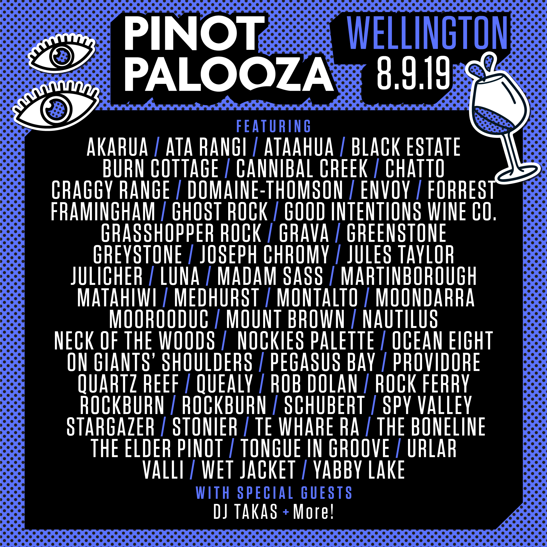 Wellington Line Up 2019